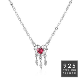 Halskette Feathery Heart