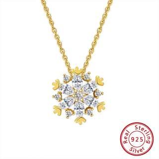 Halskette Golden Snowflake