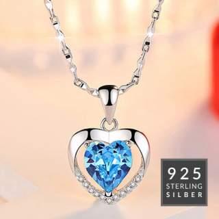 Halskette Blue Heart